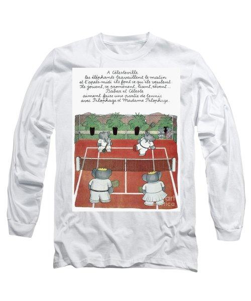 Babar The Elephant, 1930s Long Sleeve T-Shirt