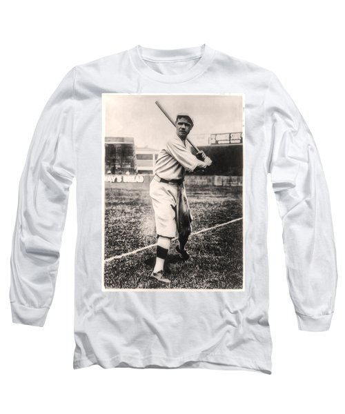 Babe Ruth Long Sleeve T-Shirt by Bill Cannon