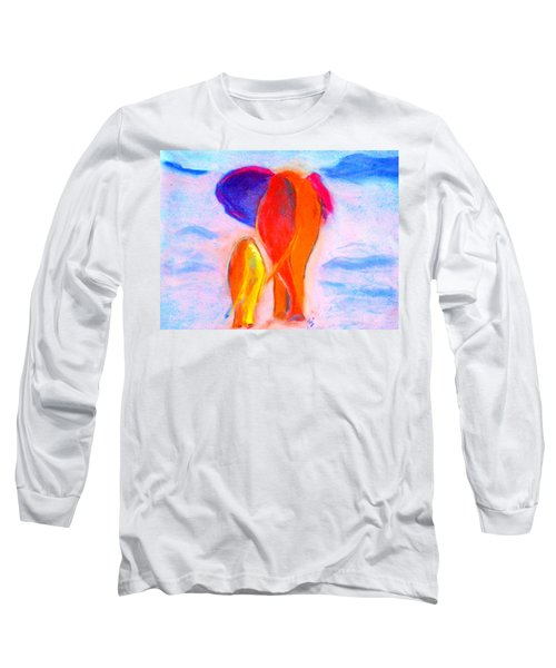 Baby Elephant And Mom Long Sleeve T-Shirt