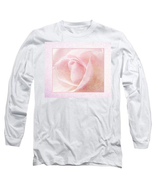 Baby Pink Rose Long Sleeve T-Shirt