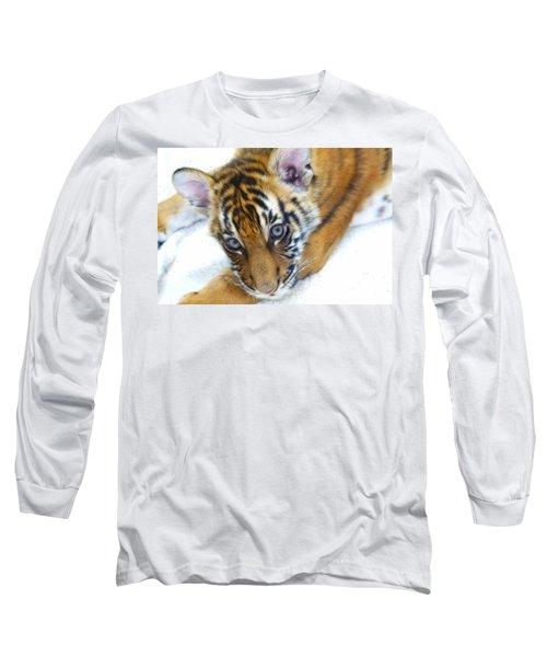Baby Tiger Long Sleeve T-Shirt by Steve McKinzie