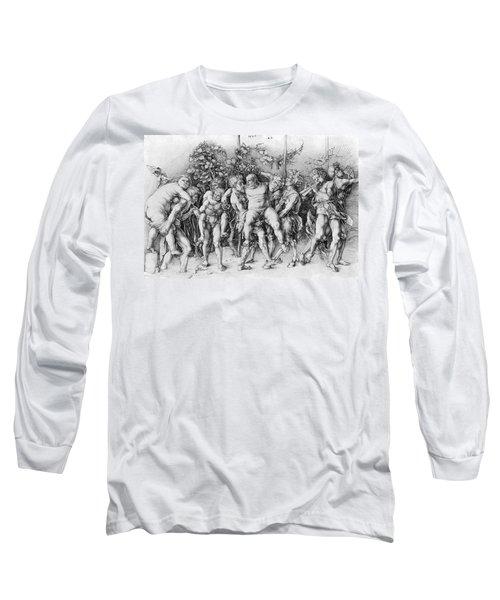 Bacchanal With Silenus - Albrecht Durer Long Sleeve T-Shirt by Daniel Hagerman