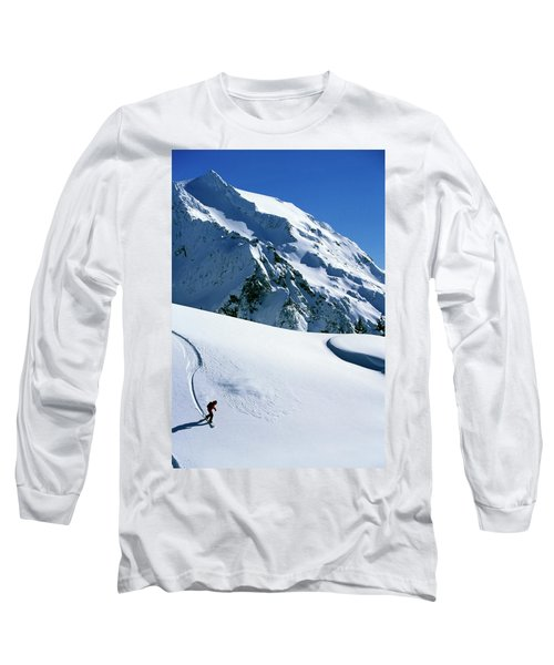 Backcountry Snowboarding Near Mt Long Sleeve T-Shirt
