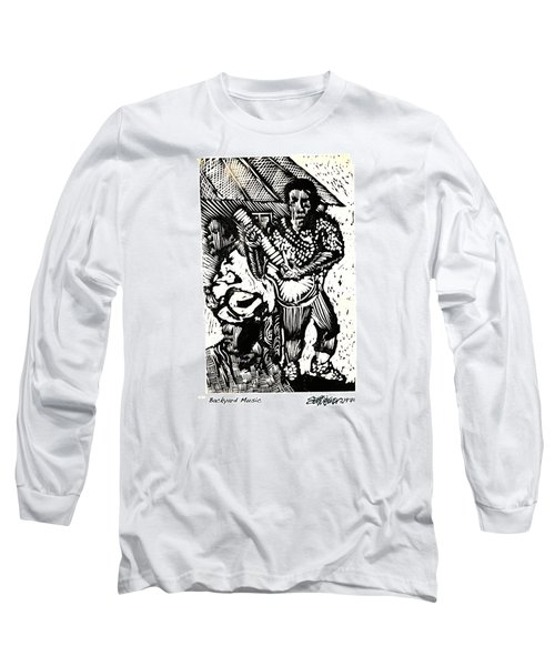 Backyard Music Long Sleeve T-Shirt by Seth Weaver