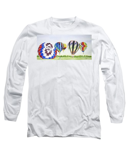Long Sleeve T-Shirt featuring the painting Balloons by Carol Flagg