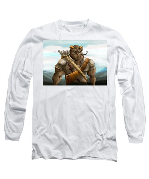 Long Sleeve T-Shirt featuring the painting Baragh The Hoargg Warrior by Reynold Jay