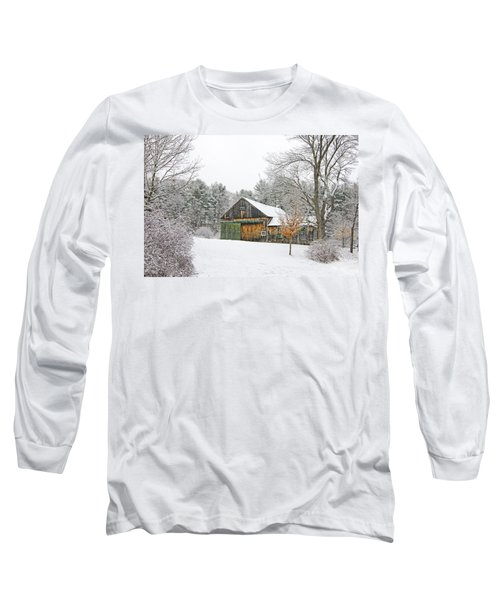Barn In Winter Long Sleeve T-Shirt