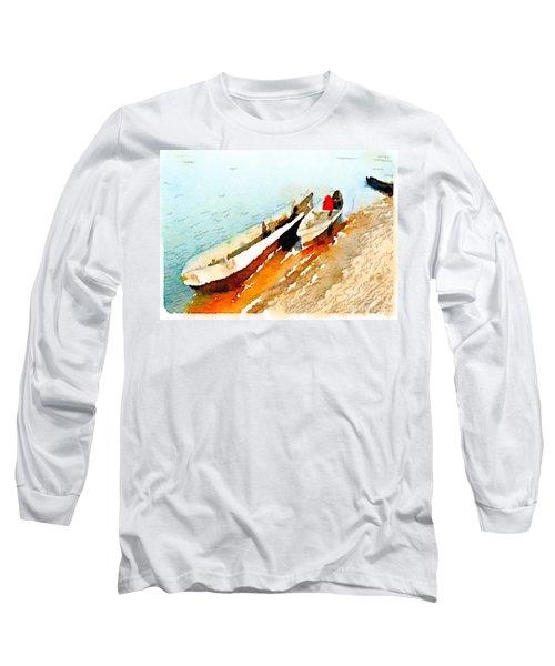 Barques Sur Le Chari Long Sleeve T-Shirt