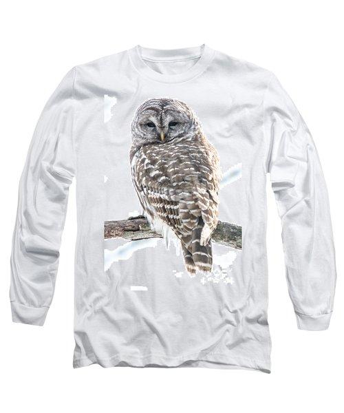 Barred Owl2 Long Sleeve T-Shirt by Cheryl Baxter
