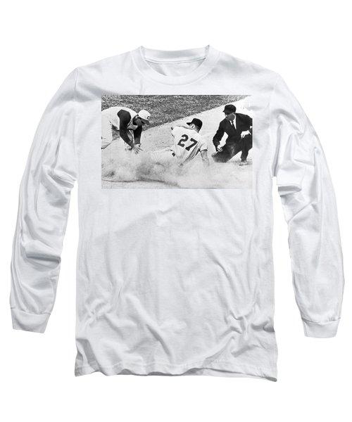 Baseball Runner Out At Third Long Sleeve T-Shirt