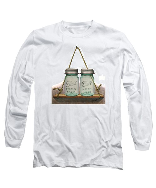 Long Sleeve T-Shirt featuring the painting Balls To The Wall by Ferrel Cordle