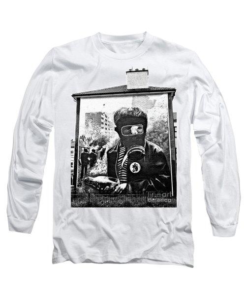 Battle Of The Bogside Mural Long Sleeve T-Shirt