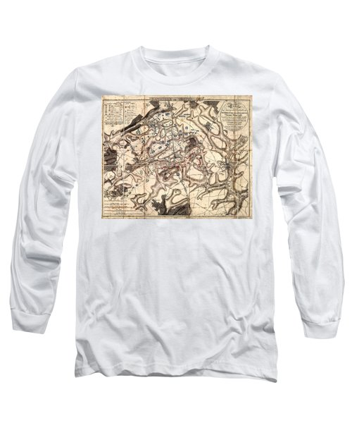 Battle Of Waterloo Old Map Long Sleeve T-Shirt