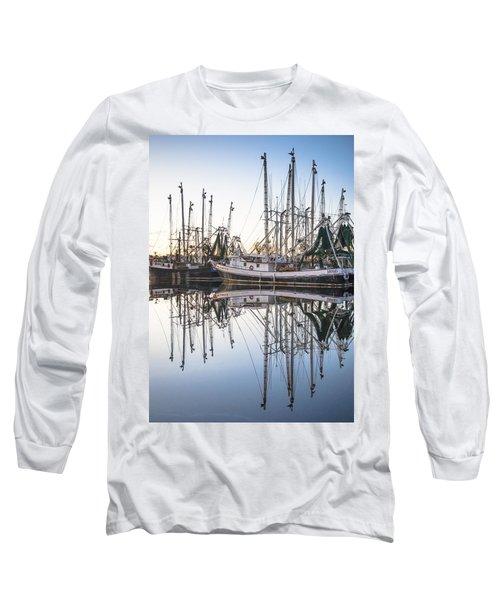 Bayou La Batre' Al Shrimp Boat Reflections 44 Long Sleeve T-Shirt