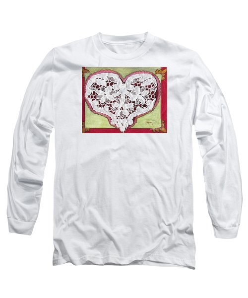 Be My Valentine Long Sleeve T-Shirt by AFineLyne