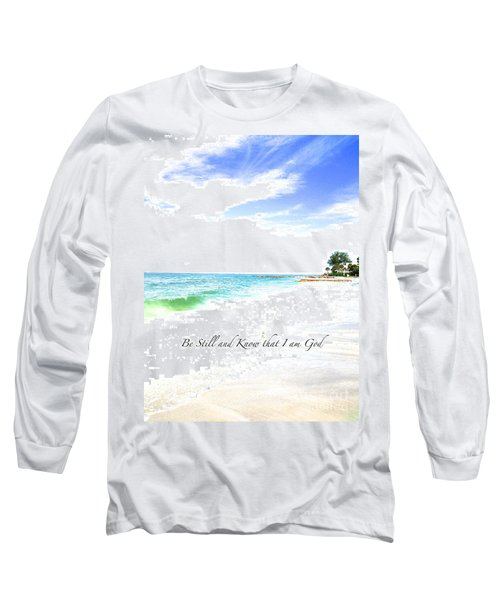 Be Still #3 Long Sleeve T-Shirt by Margie Amberge