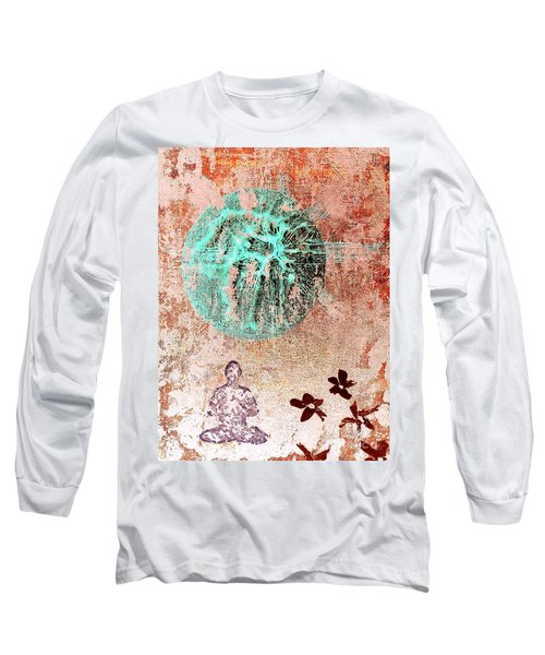 Long Sleeve T-Shirt featuring the painting Be The Buddha by Jacqueline McReynolds