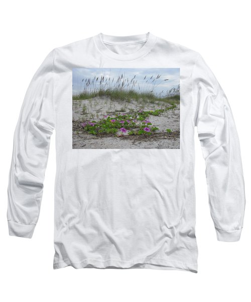 Beach Flowers Long Sleeve T-Shirt