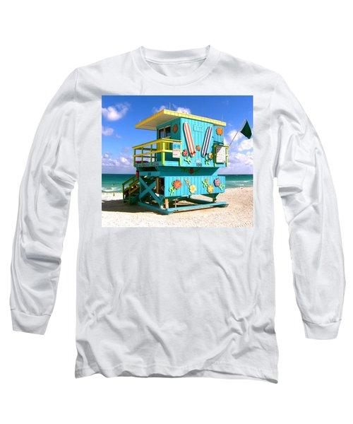 Beach Life In Miami Beach Long Sleeve T-Shirt