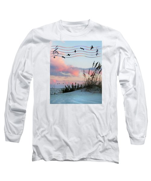 Beach Music Long Sleeve T-Shirt by Deborah Smith