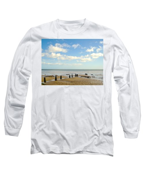 Long Sleeve T-Shirt featuring the photograph Beach Skies by Suzanne Oesterling