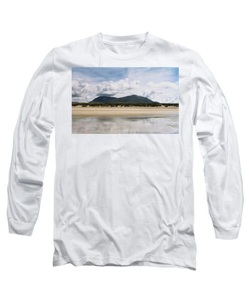 Beach Sky And Mountains Long Sleeve T-Shirt by Rebecca Harman