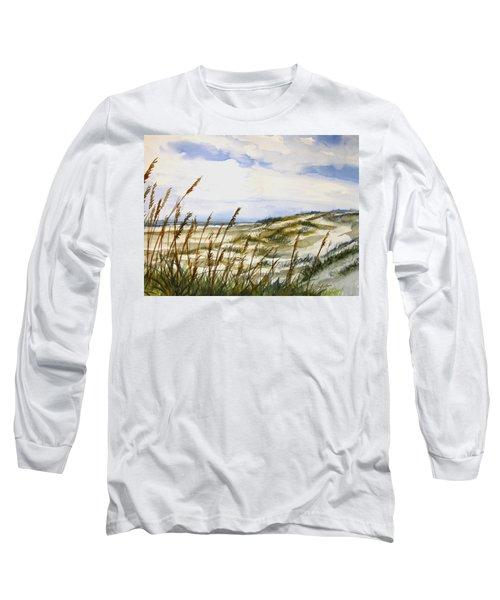 Beach Watercolor 3-19-12 Julianne Felton Long Sleeve T-Shirt