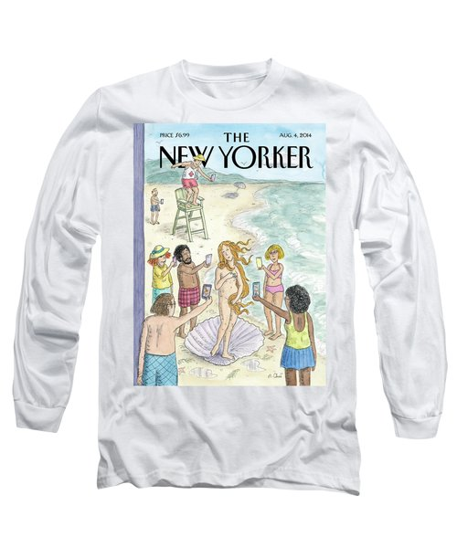 Venus On The Beach Long Sleeve T-Shirt