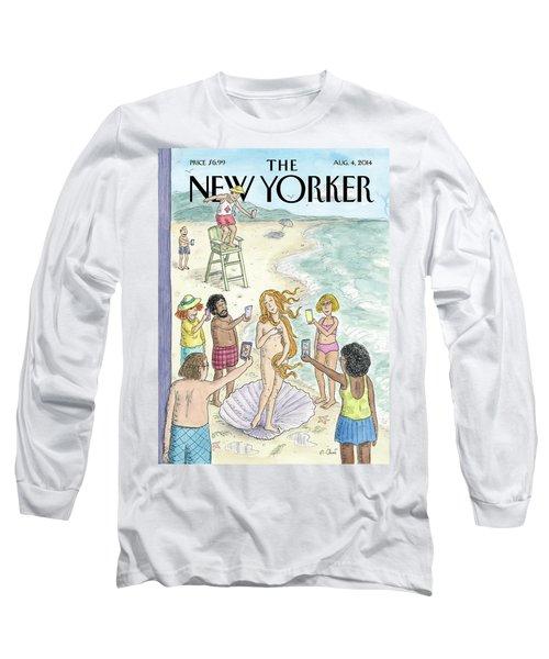 Venus On The Beach Long Sleeve T-Shirt