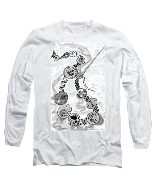 Long Sleeve T-Shirt featuring the digital art Beads Of Life by Carol Jacobs