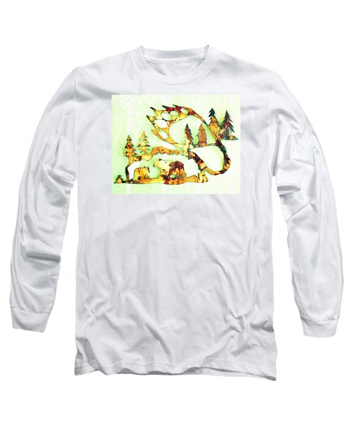 Bear Track 8 Long Sleeve T-Shirt by Larry Campbell