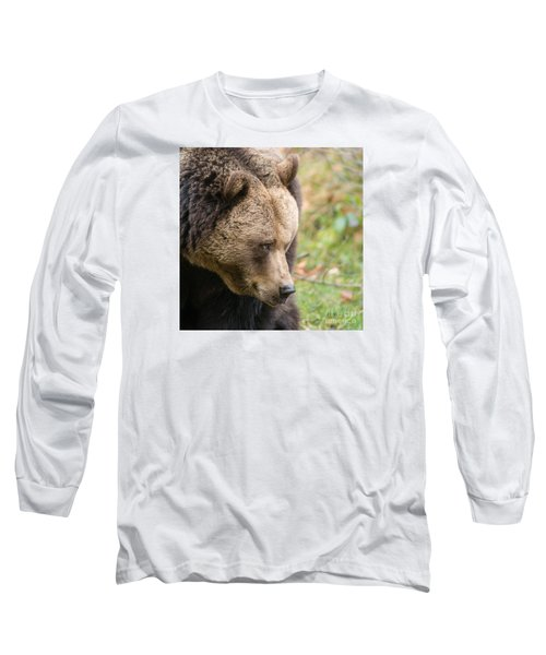 Long Sleeve T-Shirt featuring the photograph Bear's Profile by Simona Ghidini