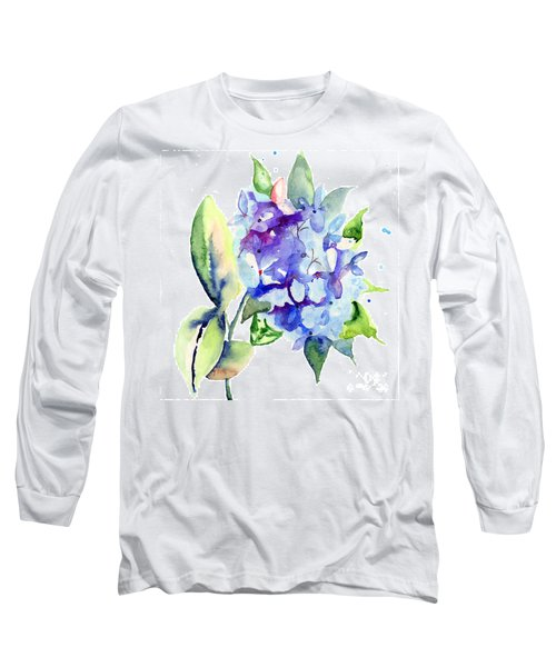 Beautiful Blue Flowers Long Sleeve T-Shirt