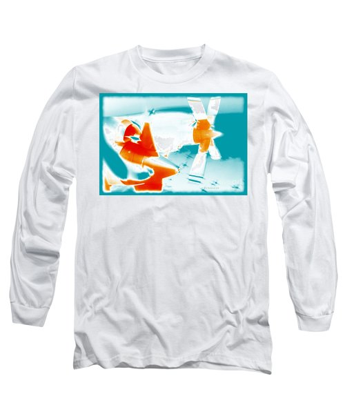 Long Sleeve T-Shirt featuring the photograph Fixed Wing Aircraft Pop Art Poster by R Muirhead Art