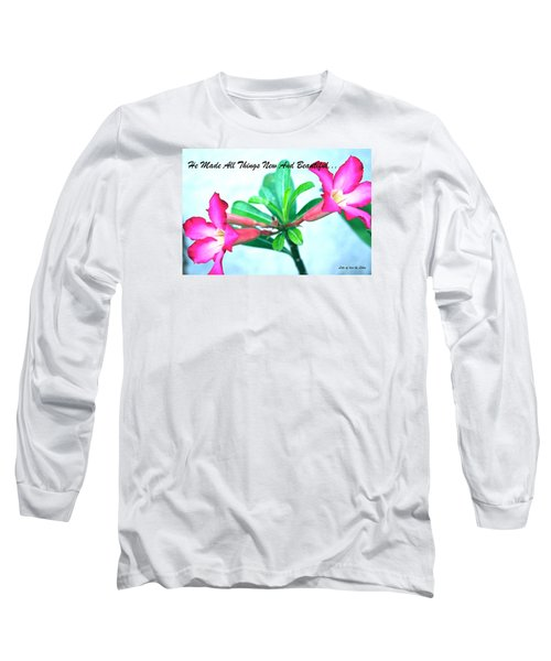Beautiful Flower Long Sleeve T-Shirt by Lorna Maza