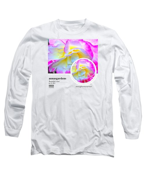 Beautiful Pink And Yellow Rose Long Sleeve T-Shirt