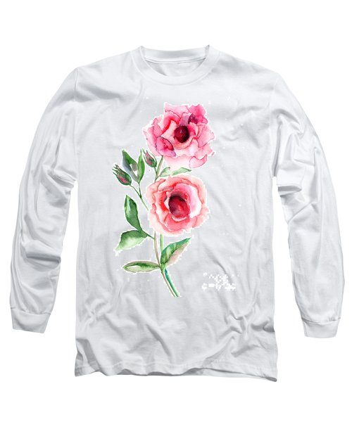 Beautiful Roses Flowers Long Sleeve T-Shirt