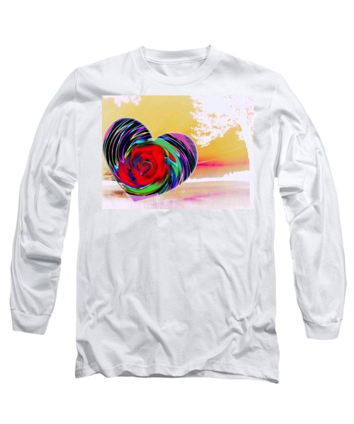 Long Sleeve T-Shirt featuring the digital art Beautiful Views Exist by Catherine Lott