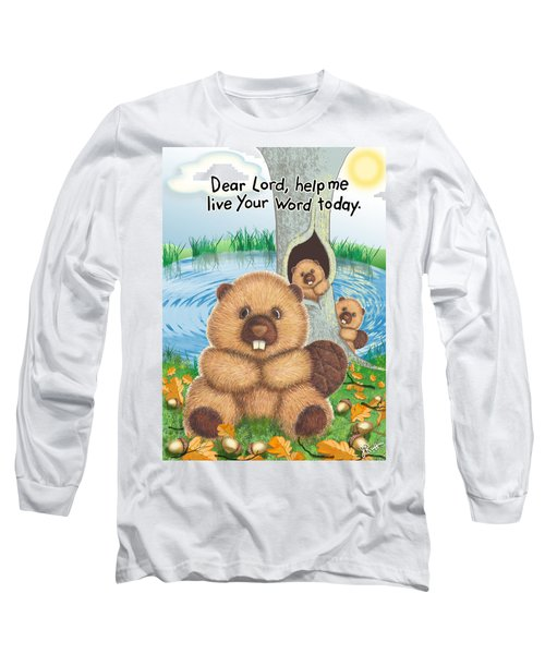 Beaver Long Sleeve T-Shirt by Jerry Ruffin
