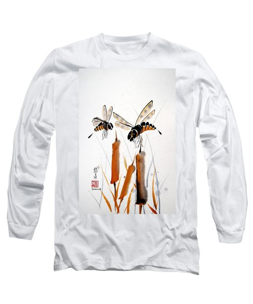 Long Sleeve T-Shirt featuring the painting Bee-ing Present by Bill Searle