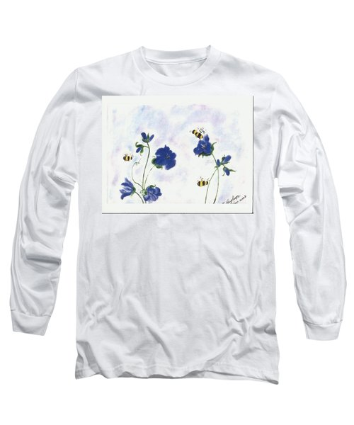 Bees At Lunch Time Long Sleeve T-Shirt by Francine Heykoop