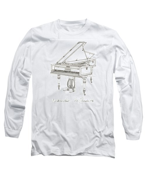 Beethoven's Broadwood Grand  Piano Long Sleeve T-Shirt by Ira Shander