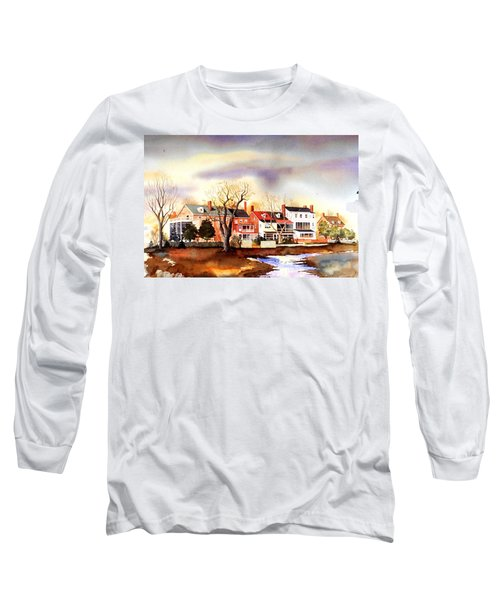 Behind The Strand In New Castle Long Sleeve T-Shirt