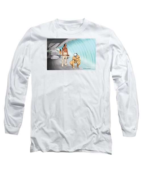 Behind The Waterfall Long Sleeve T-Shirt