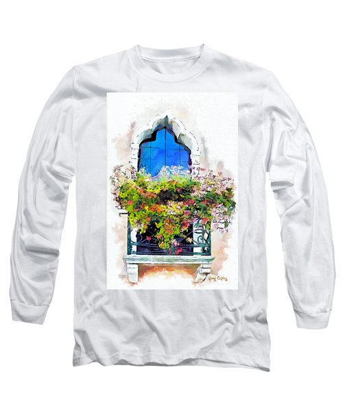 Long Sleeve T-Shirt featuring the painting Bei Fiori by Greg Collins