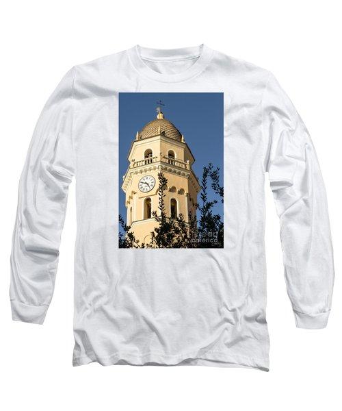Bell Tower Of Vernazza Long Sleeve T-Shirt