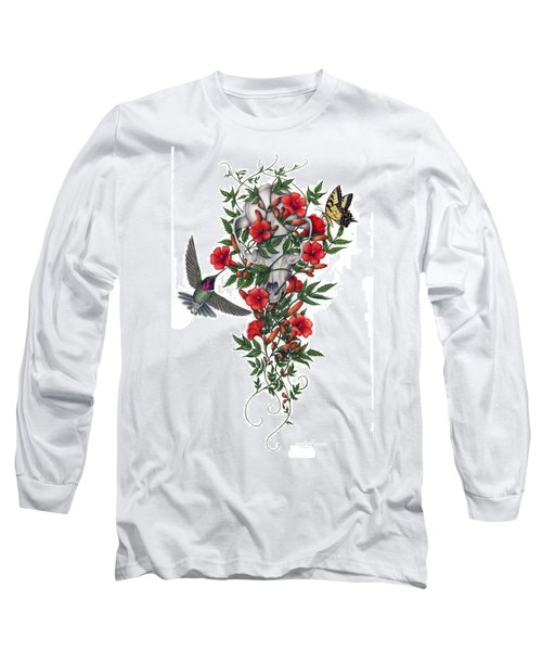 Long Sleeve T-Shirt featuring the painting Beneath Summer's Promise by Pat Erickson