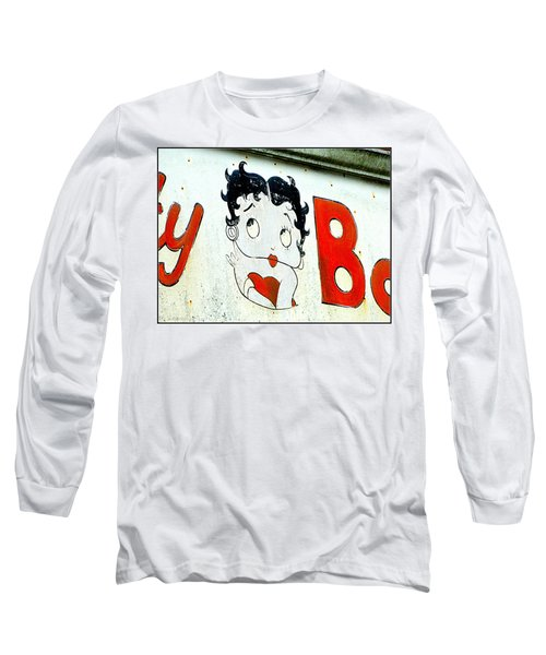 Betty Boop Herself Long Sleeve T-Shirt by Kathy Barney