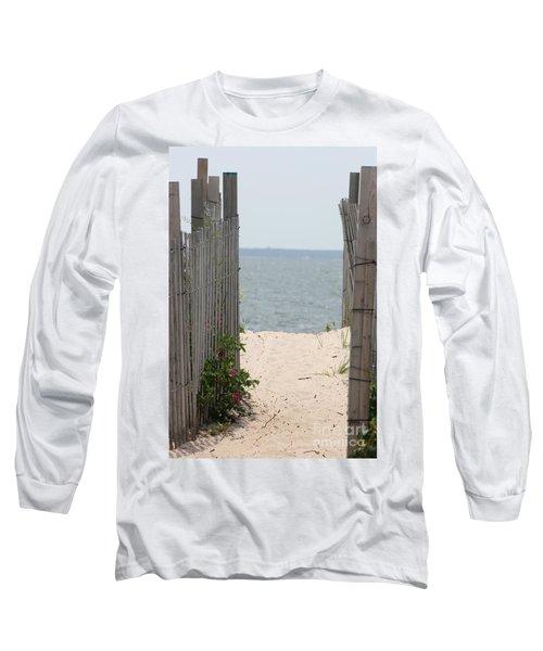 Beyond The Dunes Long Sleeve T-Shirt by Barbara Bardzik
