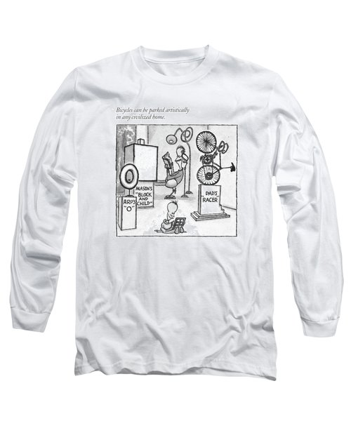 Bicycles Can Be Parked Artistically In Any Long Sleeve T-Shirt